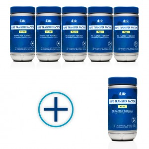 6 bottles of Transfer Factor Plus for the price of 5